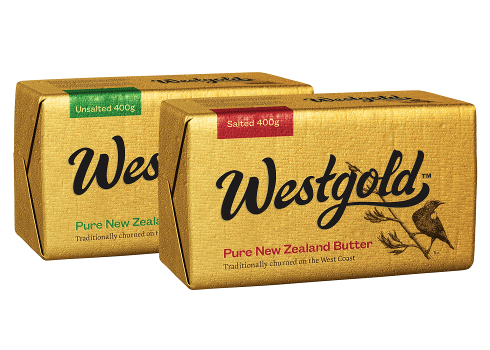 Westgold Butter Salted and Unsalted Black logo lockup
